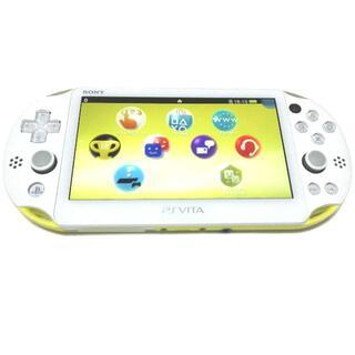 PlayStation Vita - 【準美品】ライムグリーン/ホワイト PlayStation®Vita 2000
