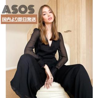 エイソス(asos)の【ASOS】ベルテッド シアースリーブ ジャンプスーツ(オールインワン)