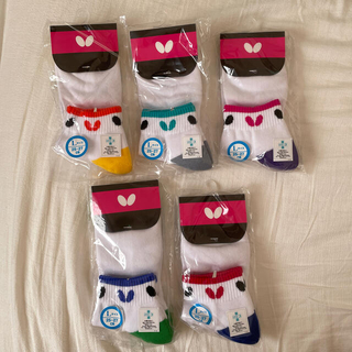 バタフライ(BUTTERFLY)のSky様専用 バタフライ 靴下 卓球 25〜27 一足690円(卓球)