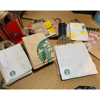 スターバックスコーヒー(Starbucks Coffee)のスタバ スターバックス 紙袋 大量 128枚セット(ショップ袋)