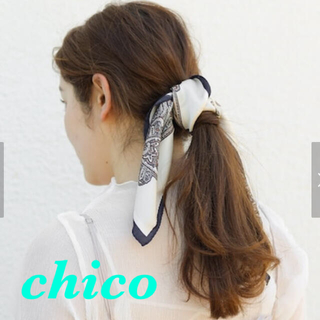 フーズフーチコ(who's who Chico)のお値下げ‼️ペイズリースカーフ(バンダナ/スカーフ)