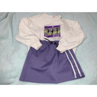 エフオーキッズ(F.O.KIDS)のalgy トレーナー スカパン set(Tシャツ/カットソー)