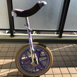 ブリヂストン(BRIDGESTONE)のブリヂストン 一輪車 パープル【専用スタンド、取扱説明書付き】(自転車)