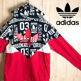 adidas - adidas アディダス ナイロン ジャケット パーカー マルチカラー 美品