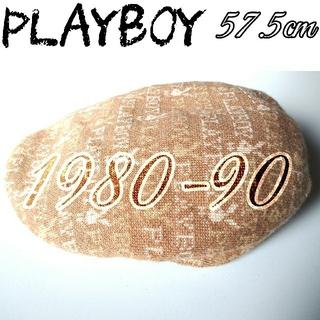 プレイボーイ(PLAYBOY)の80〜90年代 レア PLAYBOY ハンチング 帽子 ビンテージ レトロ (ハンチング/ベレー帽)