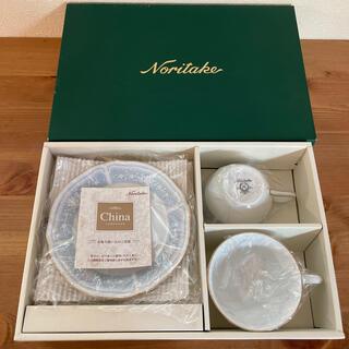 ノリタケ(Noritake)のNoritake ノリタケ  ティーカップペア レースウッドゴールド 新品未使用(グラス/カップ)