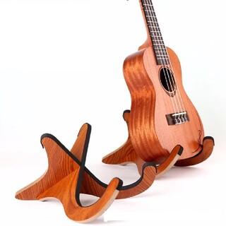 木製 楽器 スタンド ウクレレスタンド ギタースタンド バイオリンスタンド(その他)