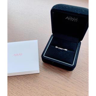 アーカー(AHKAH)のアーカー N Nリング ホワイトゴールド(リング(指輪))