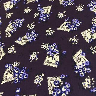アナスイ(ANNA SUI)のANNA SUI パープルブーケ 綿素材 布幅105㎝×長さ100㎝ 新品未使用(生地/糸)