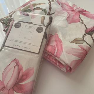 LAURA ASHLEY - ザラホーム 掛け布団カバー   ピローケース 花柄 ピンク