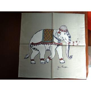 ジムトンプソン(Jim Thompson)の【未使用】ジムトンプソン ミニスカーフ(象・グレー)(バンダナ/スカーフ)