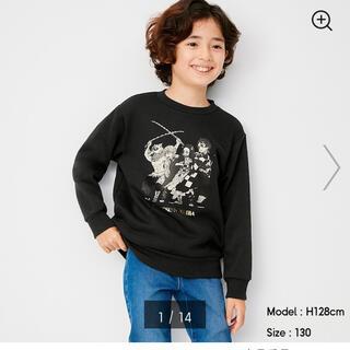 ジーユー(GU)のGU 鬼滅の刃キッズトレーナー(Tシャツ/カットソー)