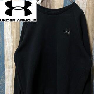 UNDER ARMOUR - 【UNDER ARMOUR】アンダーアーマー 裏起毛 トレーナー 黒 L
