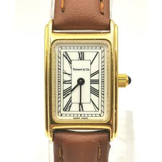 Tiffany & Co. - Tiffany & Co.  L0430  K18YG  スクエア 時計