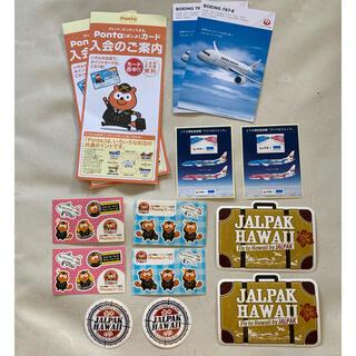 ジャル(ニホンコウクウ)(JAL(日本航空))のJAL ステッカー 絵はがき カード セット(キャラクターグッズ)