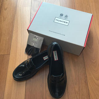 ハンター(HUNTER)の【新品】HUNTER ローファー UK5(約24.0cm相当)(ローファー/革靴)