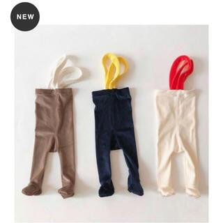 babyGAP - omn オムン velour suspenders tights ベビー タイツ