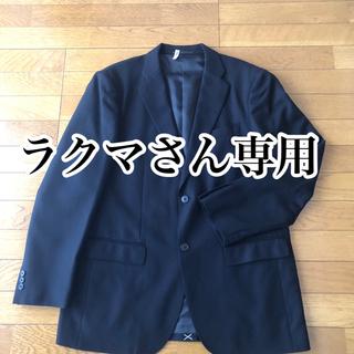 ユニクロ(UNIQLO)のジャケット UNIQLO レギュラーフィット XL 黒(テーラードジャケット)