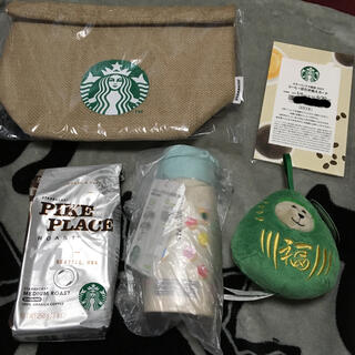 スターバックスコーヒー(Starbucks Coffee)のスターバックス2021福袋5点セット(フード/ドリンク券)