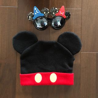 ミッキーマウス(ミッキーマウス)のディズニー ミッキー  ニット帽とサングラス(キャラクターグッズ)
