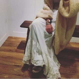 ファビアンルー(Fabiane Roux)のnows レーススカート  ※お直し有り(ロングスカート)