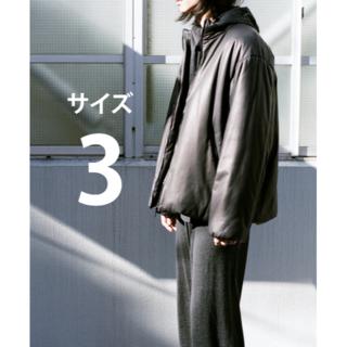 コモリ(COMOLI)のCOMOLI 21ss ディアスキン インサレーションジャケット 3 新品未使用(レザージャケット)