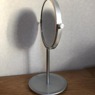 ムジルシリョウヒン(MUJI (無印良品))の無印良品 アルミコンパクトミラー・小(トレー式) (卓上ミラー)