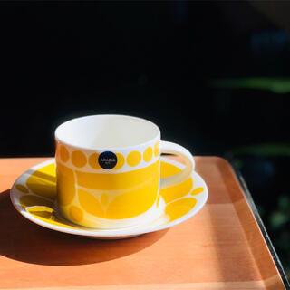 アラビア(ARABIA)のアラビア スンヌンタイ ティーカップ&ソーサー 1セット(グラス/カップ)