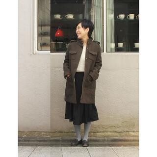 ミナペルホネン(mina perhonen)のLisette リゼッタ ウールメルトン スタンドカラーコート Marius(ロングコート)