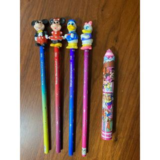 ディズニー(Disney)のディズニー 鉛筆 消しゴム ミッキー ミニー ドナルド デイジー(キャラクターグッズ)