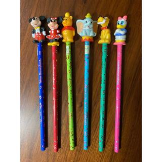 ディズニー(Disney)のディズニー 鉛筆 ミッキー ミニー プーさん ダンボ プルート デイジー(キャラクターグッズ)