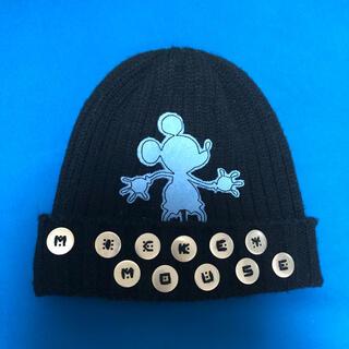 ディズニー(Disney)のDisney ニット帽 Mickey 黒 ブラック(ニット帽/ビーニー)