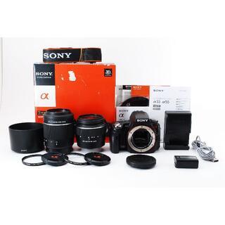ソニー(SONY)のSONY α55 DT18-55mm 55-200mm ダブルレンズキット(デジタル一眼)