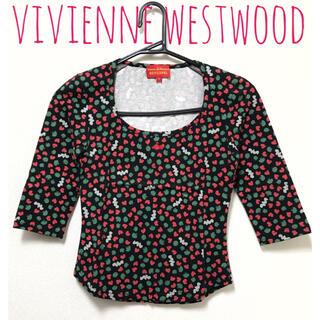 Vivienne Westwood - ヴィヴィアンウエストウッド【美品】ハート 総柄 五分袖 カットソー