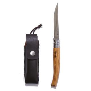 オピネル(OPINEL)の激レア スリムナイフ#10オリーブ ケースセット(調理器具)