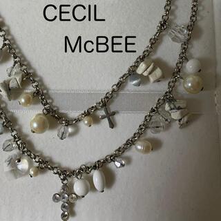 セシルマクビー(CECIL McBEE)のCECILMcBEE   2連ネックレス(ネックレス)