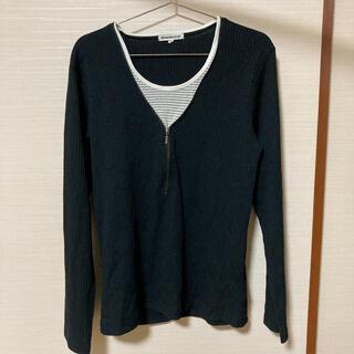 セマンティックデザイン(semantic design)のsemantic design ロンT ブラック サイズL(Tシャツ/カットソー(七分/長袖))