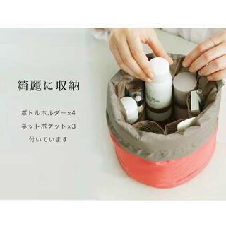 コスメポーチ 円筒形 収納バッグ 防水 メイクボックス トラベルポーチ かわいい(メイクボックス)