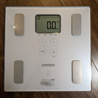 オムロン(OMRON)のオムロン体重計 HBF-215F-W ホワイト(体重計)