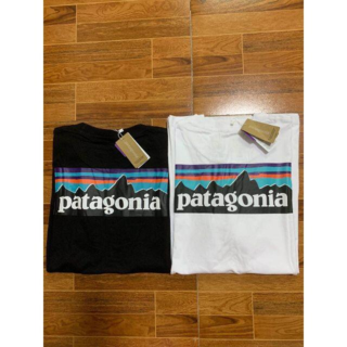 patagonia - 本日の特価2枚PatagoniaロングTシャツMサイズ ブラック+ホワイト
