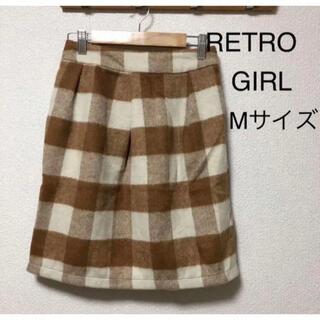 レトロガール(RETRO GIRL)のレトロガール ひざ丈スカート ホット素材 あったか 冬 秋(ひざ丈スカート)