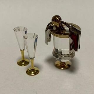 スワロフスキー(SWAROVSKI)のスワロフスキー シャンパン置物 クリスタルメモリーズ(ガラス)