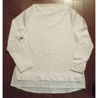 白色のカットソー Mサイズ(カットソー(長袖/七分))