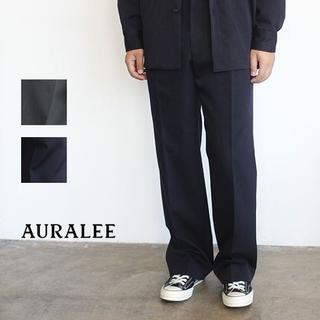コモリ(COMOLI)のAURALEE 18AW ウールキッドモヘアギャバジンスラックス size3(スラックス)