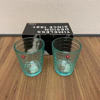 イッタラ(iittala)の【みんs shop様用】イッタラ ペアグラス ウォーターグリーン&ライトブルー(グラス/カップ)