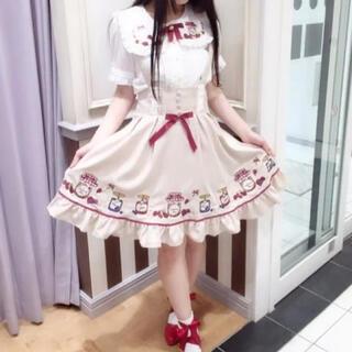 アマベル(Amavel)のAmavel ジャム刺繍ジャンパースカート(ひざ丈ワンピース)