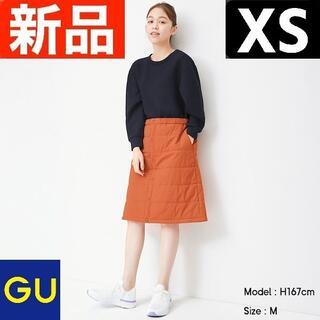 ジーユー(GU)のヒートパデットリバーシブルスカートGA+E GU ジーユー オレンジ XS(ひざ丈スカート)