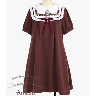 アマベル(Amavel)のチョコレート刺繍ワンピース(ひざ丈ワンピース)