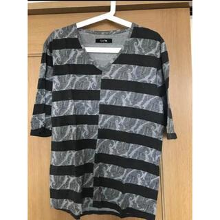 ステュディオス(STUDIOUS)の【激安価格】Luis ボーダー✖️ペイズリー 七分袖シャツ(Tシャツ/カットソー(七分/長袖))