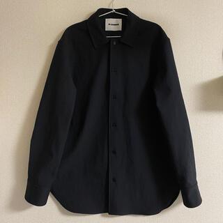 ジルサンダー(Jil Sander)のJIL SANDER ポリエステルサージ シャツ ブラック 39(シャツ)
